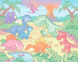 Afbeelding van Baby Dinosaurus Kinder Fotobehang
