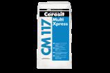 Afbeelding van Ceresit cm 117 multi xpress uitverkoopartikel 25 kg, grijs