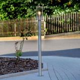 Afbeelding van Aantrekkelijke tuinpadverl. Miko, roestvr. staal, Lampenwelt.com, roestvrij polycarbonaat, E27, 60 W, energie efficiëntie: A++, H: 110 cm