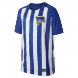 Image of 2017/18 Hertha BSC Stadium Home Older Kids' Football Shirt Blue