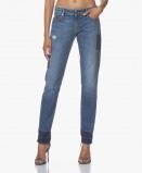 Afbeelding van Denham Jeans Monroe Golden Rivet Boho in Blauw