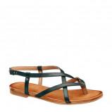 Afbeelding van 5th Avenue leren sandalen zwart