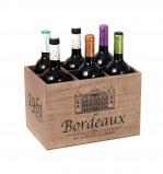 Afbeelding van Balvi wijnrek Bordeaux 1961 hout voor 6 flessen