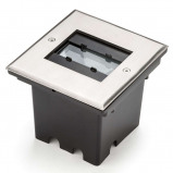 Afbeelding van Konstmide malte LED grondspot met flex. Lichtuitvoer, 6 W, aluminium, glas, 2 energie efficiëntie: A+, L: 14.5 cm, B: 13.5 H: 1 cm