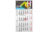Abbildung von 100 Stück Budget Wandkalender 4 Monate bedrucken 300 x 560 mm