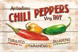 Afbeelding van Chili Peppers Metalen Wandplaat 30x20cm Wandplaten