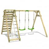 Afbeelding van Dubbele houten schommel JollyJungle Wild XXL