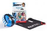 Afbeelding van Alpine Muffy gehoorbescherming voor kinderen Blauw met beschermtasje geluids koptelefoon kind