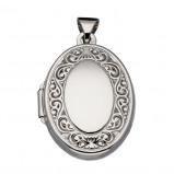 Afbeelding van Best Basics 145.0091.00 Zilveren Hanger Medaillon Barok 20 x 15 mm