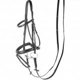 Abbildung von Harry's Horse Luxuriöse weiche Nasenwippe (Farbe: schwarz, Maßgeschneidertes Pferd: voll)