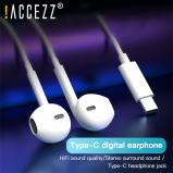 Εικόνα του !ACCEZZ USB Type C In Ear Earphone For Huawei Mate10 Pro Mate20 P30 Mic Volume Control Type C Earphones For Xiaomi Mi5 Headphone