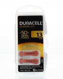 Afbeelding van duracell hoortoestelbatterijen da13 ?7 9mm 1 45v 310mah set ? 6 stuks