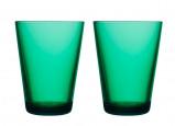 Afbeelding van Iittala Glazen Kartio 40cl Emerald 2 Stuks