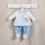 Billede af ASI Koke dukketøj 36 cm Todelt pyjamas med lyseblåt print