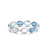 Image of TI SENTO Milano Bracelet Blue Silver Plated 2857WB