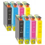 Afbeelding van Geschikt 2x Epson T0715 multipack (inktcartridges) Alleeninkt