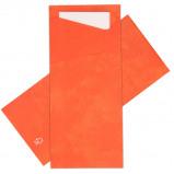 Afbeelding van Bestekzakjes Mandarin met Wit servet