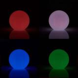 Afbeelding van 8 Seasons LED buiten sfeerlamp Shining Globe 40 cm, polyethyleen, energie efficiëntie: A