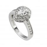 Afbeelding van Diamonfire Zilveren Entourage Ring Maat 19.0 Druppel Bezette Band 814.0107.19