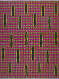 Abbildung von Vlisco VL01416.016.02 Pink/Black/Yellow African print fabric Wax Hollandais Decorative