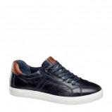 Afbeelding van AM SHOE leren sneakers donkerblauw/cognac