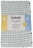Afbeelding van Biobaby Hydrofiele Luier Blauw/Wit 80x70cm
