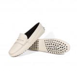 Image de Aurélien Driving Shoes Femme Moccassin Cuir Blanc taille 36 Italiennes Faites à la Main Style Méditerranéen Chaussures Exclusives & de Luxe Black Friday Sale
