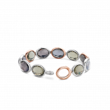 Image of TI SENTO Milano Bracelet Pink Silver Rose Gold Plated 2857GB