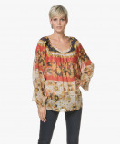 Image of Mes Demoiselles Blouse - Floral Combo Marushka in Cotton Voile