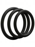 Image of 3 C Ring Set Thin Black