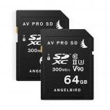 Afbeelding van Angelbird AVPRO SDXC UHS II V90 64GB geheugenkaart 2 stuks