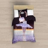 Afbeelding van Carbotex dekbedovertrek ballerina paars 140 x 200 cm