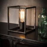 Afbeelding van Dimehouse Industriële tafellamp Hardin 1 lichts oud zilver