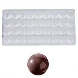 Afbeelding van Bonbonvorm Chocolate World Bol (36x) Ø25mm