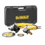 Afbeelding van DeWalt DWE492SDT Haakse slijper (DWE492) M14 x 230mm 2200W & (DWE4207) 125mm 1100W