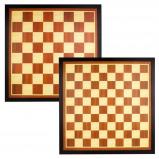 Afbeelding van Abbey Game schaak en dambord hout bruin/ecru 49CG