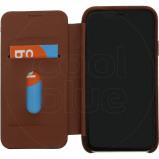 Afbeelding van Decoded Leather Slim Wallet Apple iPhone Xr Book Case Bruin