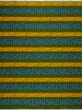 Imagine din Vlisco VL00001.258.06 Blue/Yellow African print fabric Wax Hollandais Geometrical
