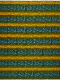 Imagem de Vlisco VL00001.258.06 Blue/Yellow African print fabric Wax Hollandais Geometrical