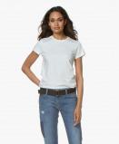 Afbeelding van Denham Arrow Basic T shirt Off white