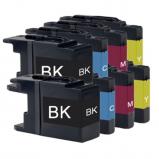 Afbeelding van Compatible 2x Brother LC 1240 XL Multipack (inktcartridges) Alleeninkt