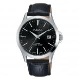 Afbeelding van Pulsar PS9457X1 Herenhorloge Zwarte leren band 38 mm ø