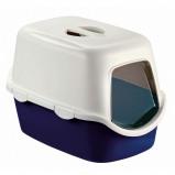 Abbildung von Kerbl CATHY F Katzentoil.haus m. Türe+Filter Blau 56x40x40cm
