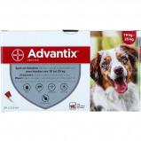 Imagem de Advantix Dewormer 250/1250 Spot On Dog 10 25kg 24 Pipettes