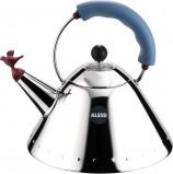 Immagine di Alessi fischietto bollitore 9093 (colore: argento/rosso/blu)