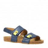 Afbeelding van Clic leren sandalen blauw/geel