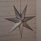 Afbeelding van Best Season gestippelde papieren ster Huss 60 cm, grijs, papier, E14, 25 W, energie efficiëntie: A++