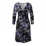Afbeelding van Anna Field jurk met bloemenprint blauw