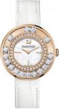Afbeelding van Swarovski 1187023 Lovely Crystals White / Rose horloge dameshorloge Wit