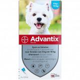 Image de Advantix 100/500 Spot On Chien 4 10kg 4 pipettes